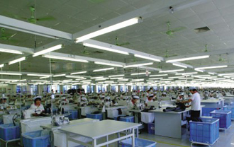 t5日光灯使工厂获得无暗区照明